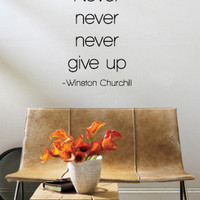 Never Give Up - Winston Churchill Wall Decal at AllPosters.com