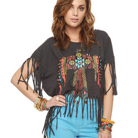 Southwest Eagle Fringe Top