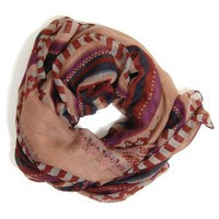 Seeing Senegal Scarf: Maroon - $14.99 : Spotted Moth, Chic and sweet clothing and accessories for women