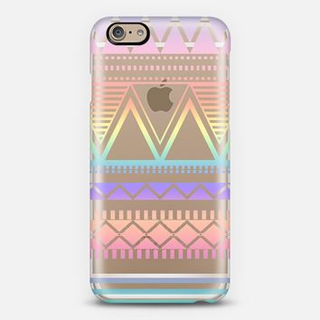Cotton Candy Rainbow Tribal Transparent iPhone 6 case by Organic Saturation | Casetify