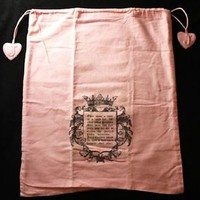 Authentic JUICY COUTURE Large Pink Bag Protective Purse Cover 100% Cotton