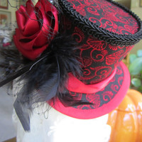 Women's, Steampunk, Victorian, Halloween, Gothic, Mini Top Hat