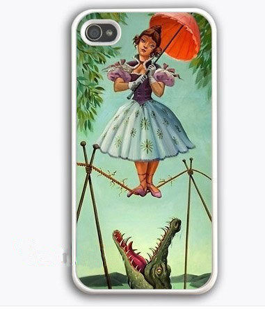 Haunted Mansion Stretching Painting iPhone 4 Case, iPhone 4s Case, iPhone 4 Hard Case, iPhone Case-graphic Iphone case