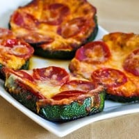 Recipe for Grilled Zucchini Pizza Slices