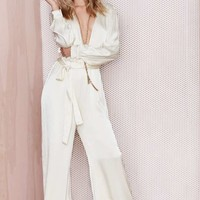 After Party Vintage 54th Street Satin Jumpsuit