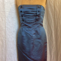 Marc Jacobs 100% Silk Satin Strapless Mad Men Dress