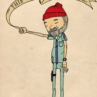 """THIS IS AN ADVENTURE."" - Zissou Art Print 