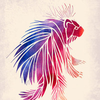 Watercolor Porcupine Art Print | Print Shop