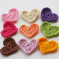 Rainbow Crochet Hearts on Luulla