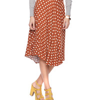 Polka Dot Calf Skirt