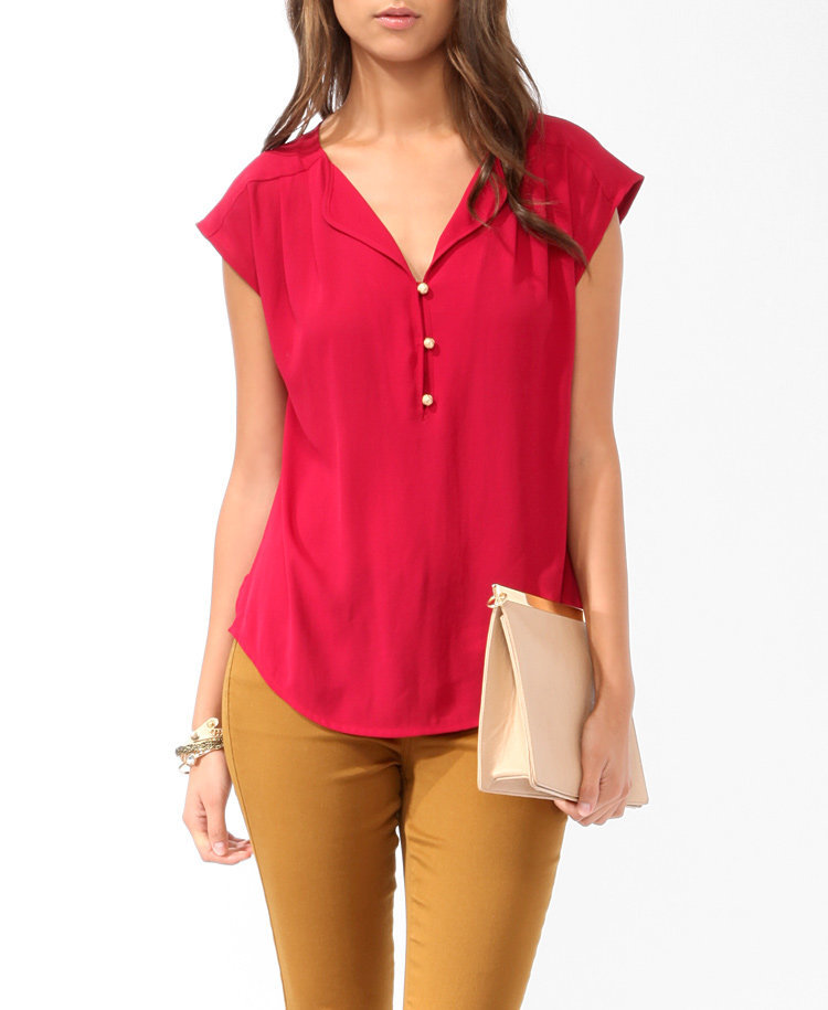 Essential Boxy Buttoned Top