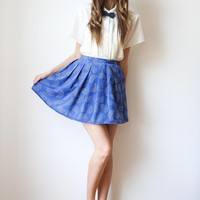 tea and tulips boutique - one of a kind vintage. — dotted rainbows skirt