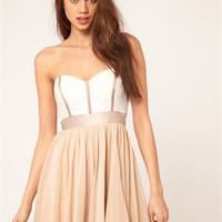 A-line Strapless Sweetheart with Waistband Low Back Short Chiffon Prom Dress PD1951
