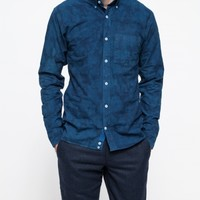 Apolis Indigo Camo Button Down