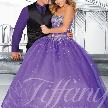 Strapless Sweetheart Formal Prom Dress Tiffany Designs 61112