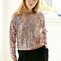 Love Sadie Disco Sequin Top- Rose