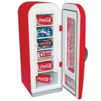 Koolatron CVF18 Retro Coca-Cola 10-Can-Capacity Vending Fridge--Sports Fan Shop-Tailgating & Outdoor-Coolers