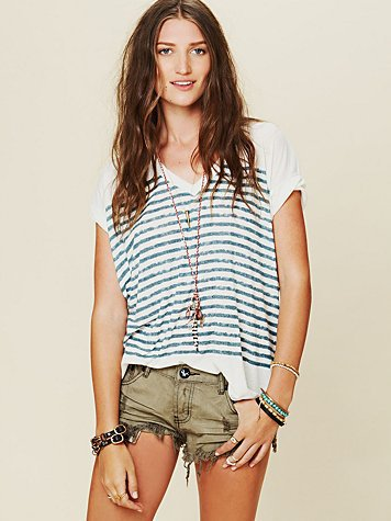 Free People Keep Me Stripe Tee