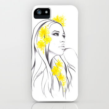 Yellow iPhone & iPod Case by EDrawings38