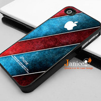 iphone 4 case iphone 4s case iphone 4 cover black iphone case blue red wall texture style unique Iphone case
