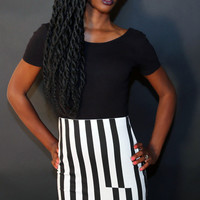 Cheap Monday Striped Skirt - Medium