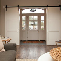 Double Door; Sliding Barn Door Hardware