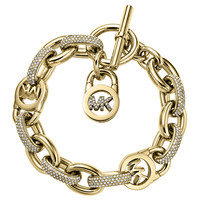 Pave Golden MK Toggle Bracelet - Michael Kors - Gold