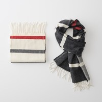 Winter Staple Stripe Wool Scarf