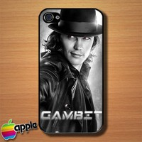 Gambit X Men The Movie Custom iPhone 4 or 4S Case Cover
