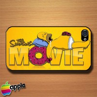 The Simpsons Movie Homer Custom iPhone 4 or 4S Case Cover