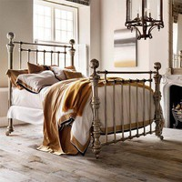 And So To Bed Dickens Bed in Polished Nickel - Beds - Modenus Catalog