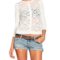 Simple Lace Cardigan - 2020AVE