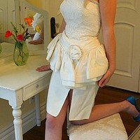 Vintage Designer Tadaski Short Vegas Wedding Dress by DaintyRascal on Sense of Fashion