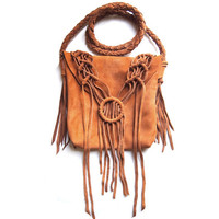 Macrame Traveller Suede Purse