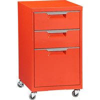 TPS bright orange file cabinet in new storage | CB2