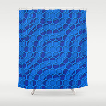 Pattern Over Pattern Shower Curtain by Lyle Hatch