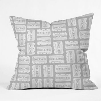 DENY Designs Home Accessories | Bianca Green Tape It Grey Throw Pillow