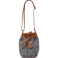 With Love From CA Tribal And Tassel Bucket Bag - Womens Handbags - Black - One