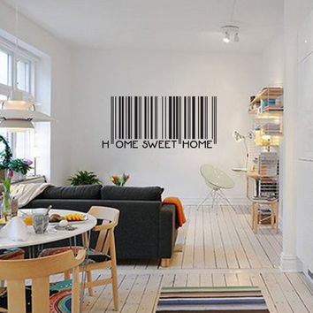 Home sweet home barcode decal