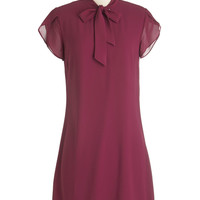ModCloth Mid-length Cap Sleeves Shift Midday Meeting Dress