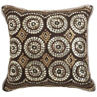 Sequin Circles Pillow - Bronze