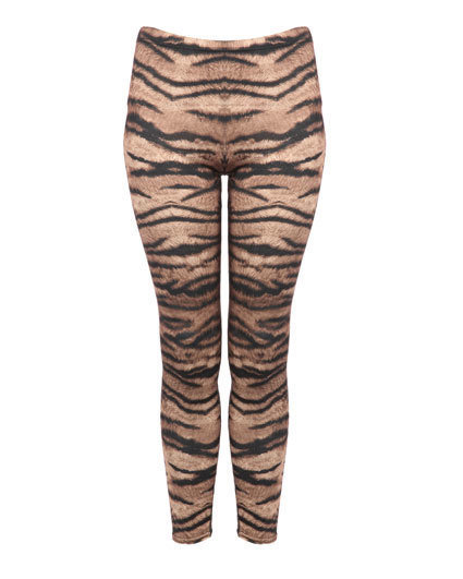 HypoxicAndLost - Handmade - Tiger Animal Print Leggings S