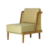 Throne Lounge Chair with Rattan - SIDE - SEATING