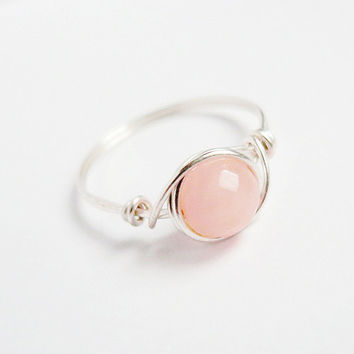 Dusty Rose Jade Ring