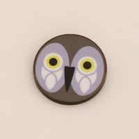 XJAN 1f: Animal Brooch - Purple Owl - brooch - jewellery