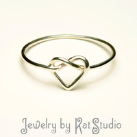 Knot Heart Ring - Infinity Heart - Sterling Silver 925