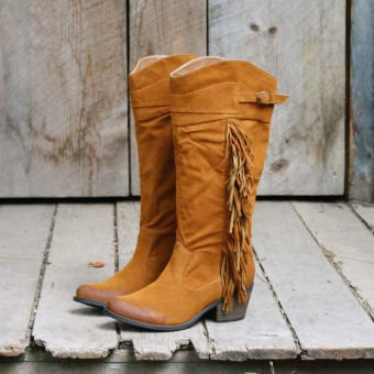 Brimstone Fringe Boots, Rugged Boots & Shoes