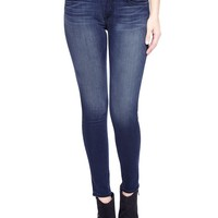True Religion Halle Mid Rise Super Skinny 30 Coated Womens Jean - Till The End
