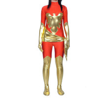 Red And Gold Lycra & Shiny Metallic Phoenix Catsuit Fancy Dress [TOQ111227048] - £24.19 : Zentai, Sexy Lingerie, Zentai Suit, Chemise