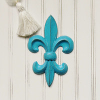 Cast Iron Fleur de lis, Custom Color, Fleur de lis Wall Plaque, Fleur de lis Wall Art, French Wall Decor